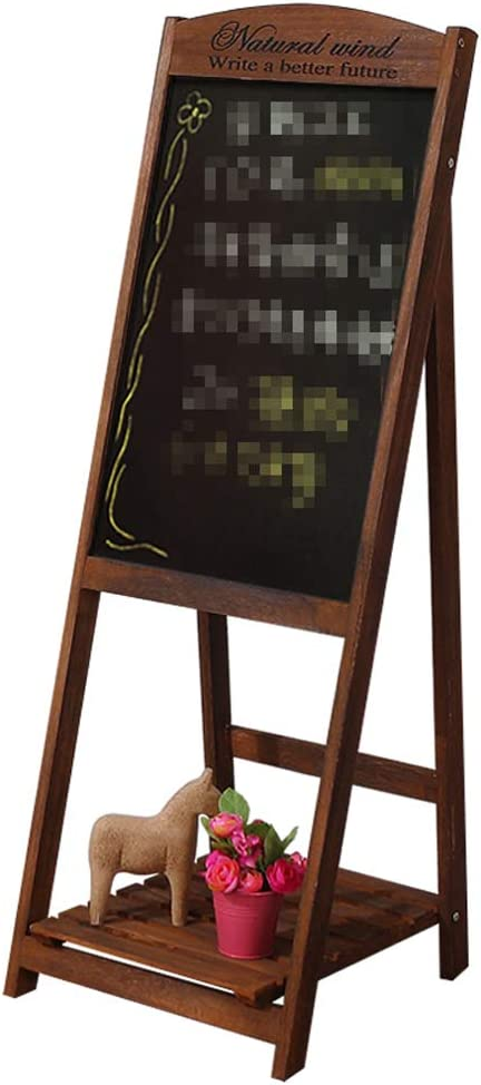 Pizarra de madera lavada de estilo vintage con soporte para maceta, color marrón: Amazon.es: Oficina y papelería