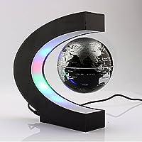 Yosoo® C Shape Magnetic Levitation Floating Globe World Map with LED Lights