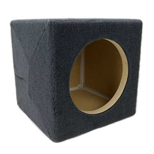 0.30 ft^3 Sealed MDF Sub Woofer Enclosure for Single JL Audio 8″ W3v3 (8W3v3) Car Subwoofer – 3/4″ Premium MDF Construction – Made in U.S.A.