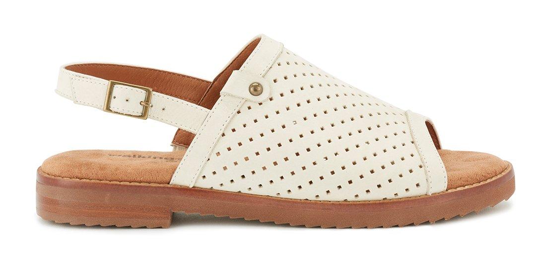 Walking Cradles W-97609 Juliette Womens Leather 3/4'' Heel EVA Outsole Flat Sling Sandal