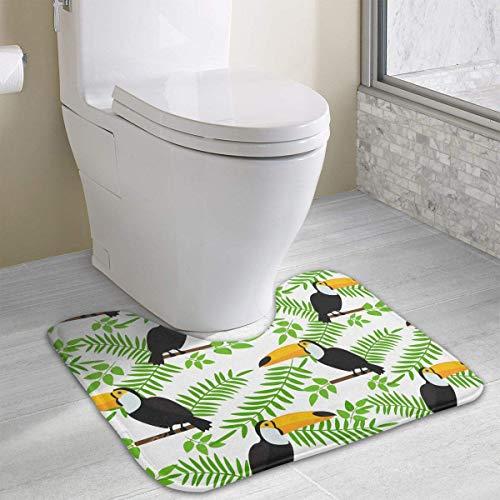Bennett11 Toucan Sitting On Branch U-Shaped Toilet Floor Rug Non-Slip Toilet Carpets Bath Mats Rug 19.2″x15.7″