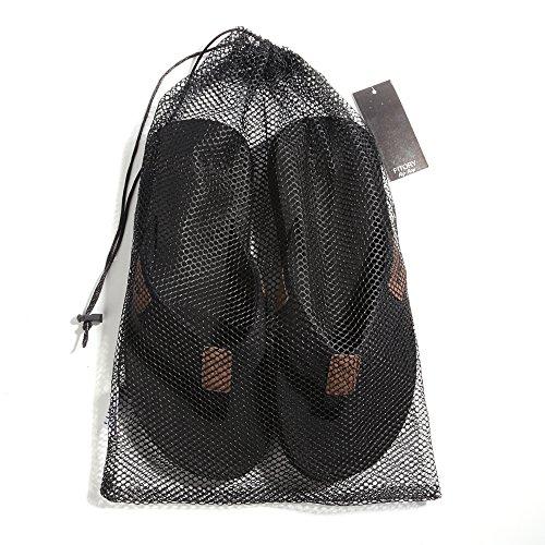 Fitory Heren Flip-flops Ondersteuning Voor De Tong Riemen Comfort Slippers Voor Strand Maat 7-13 Zwart