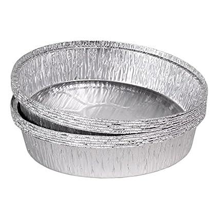 "100 bandejas de aluminio redondo modelo ""Venecia"" diámetro 230 x 43 mm/"