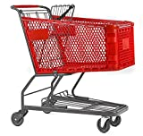 Advance Carts HC180-R-S Plastic Shopping Cart, 180 L, Red