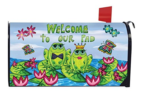 Frog Couple Welcome Summer Magnetic Mailbox Cover Lily Pads Briarwood Lane