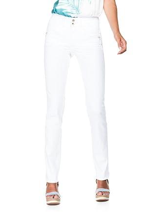a15c5226fd Salsa Pantalons blancs Push In avec clous - Secret - Femme - Blanc ...