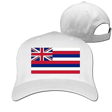 SOTTK Hombre Mujer Gorras de béisbol, Flag of Hawaii Adjustable ...