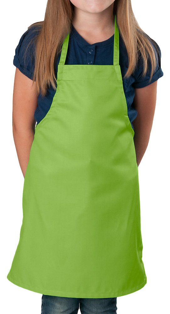 Lime Green Kids Apron, Medium Bib, 84 Pack by KNG