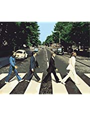 CaptainCrafts DIY Oil Painting Paint by Numbers Kits 16*20 Inch for Adults Children On Linen Pre-Printed Canvas Acrylic Paint Wall Art Artwork Street View The Beatles Band (Frameless)