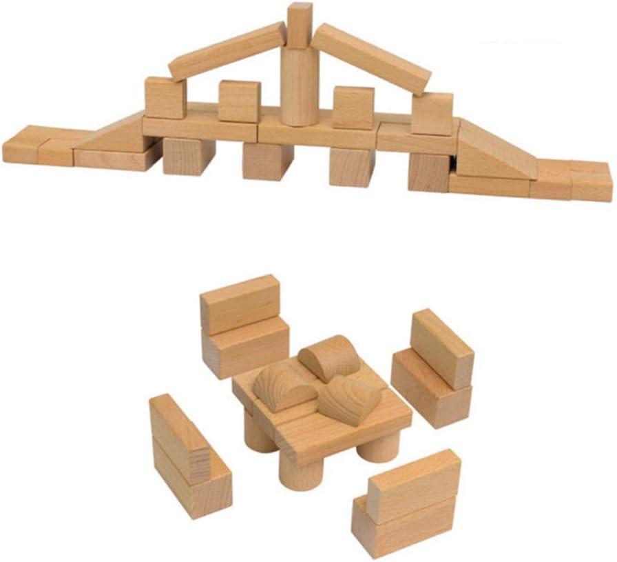 Building Blocks Madera 140 Tabletas Bloques de construcción de ...