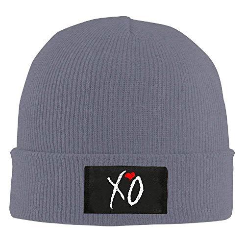 XO Grey Knit Hat Warm Hat Hip Hop Ski Unisex