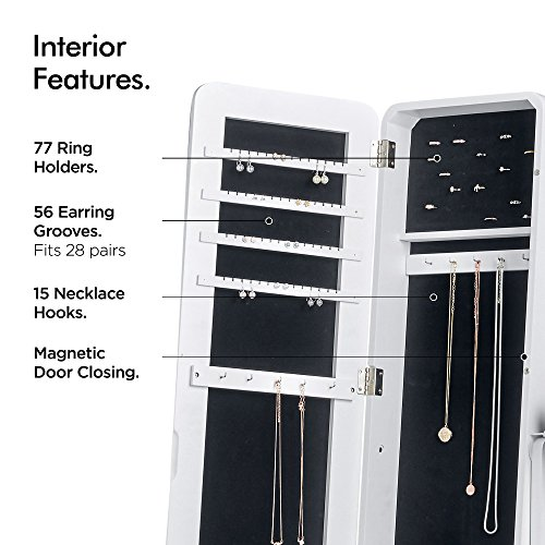 Beautify Floor Standing Make Up And Jewellery Organiser