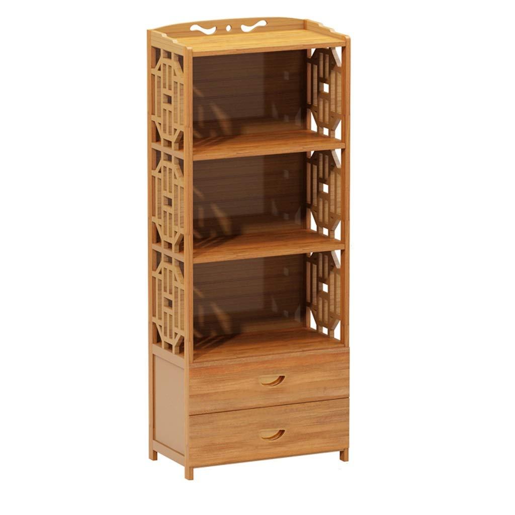 SJ-DDUAN Combination Bookshelf, Creative Bookcase, Simple Modern Student Bookshelf Bamboo Rack (Size : 4229133cm) by SJ-DDUAN
