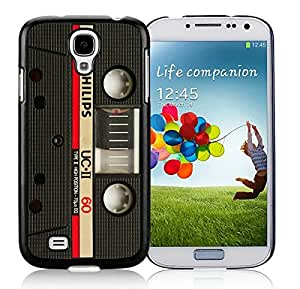 Samsung Galaxy S4 Case Classic Audio Cassette Black Cell Phone Hard Cover Accessories