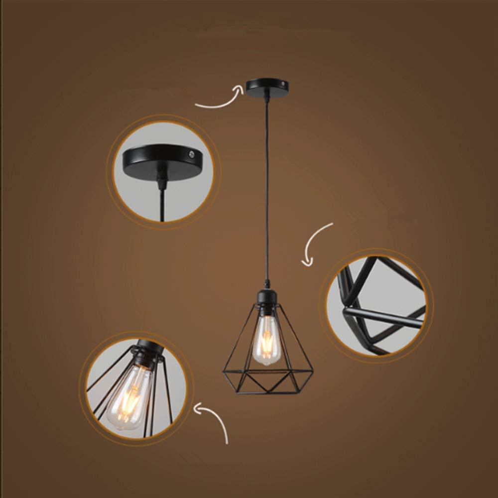 Lámpara colgante Retro Vintage iluminación de techo Iluminación E27 Capacidad AC220 – 240 V (forma de jaula)