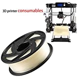 3D Printer Filament KG/2.2lb 1.75mm PLA Modeling, Diameter Tolerance +/- 0.05 mm for Most 3D Printer & 3D Printing Pen Drawing (Clear)