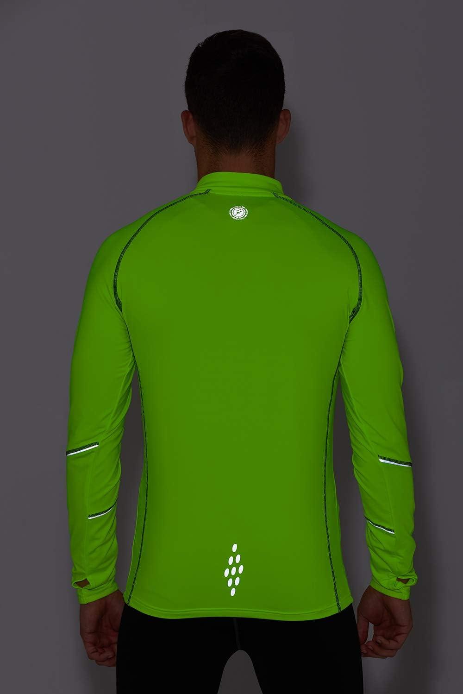 Time To Run Thermique Quick Dry Haut /à Manches Longues pour Courir lhiver avec Une Fermeture /Éclair /à lencolure pour Hommes
