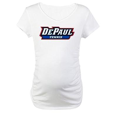 2515d762e4 CafePress DePaul Tennis Cotton Maternity T-Shirt, Cute & Funny Pregnancy  Tee White