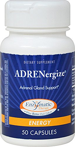 Enzymatic Therapy ADRENergize Adrenal Gland Support-50 Capsules