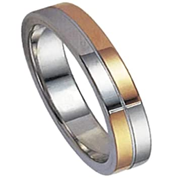 Amazon.com: Melonie Home Stainless Steel & Gold Color Ring ...