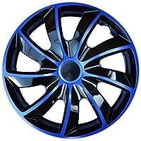 """Radkappen / 4 x Universal Radzierblenden - QUAD blau (15"""")"""