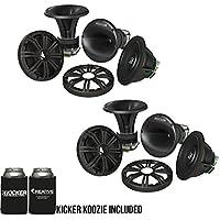 Kicker 6.75 Inch KM-Series Marine Component System 41KMS674C bundle