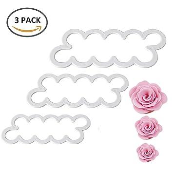 3 piezas rosa de 3d tartas Fondant galletas molde cortador de pastel decoración de DIY molde Herramientas: Amazon.es: Hogar