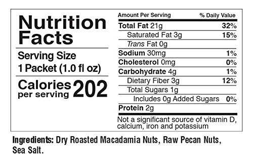 FBOMB Fat Bomb – Macadamia with Pecan Nut Butter – All-Natural On-the-Go Snack