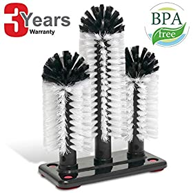 Commercial Triple 3 Brush Bar Glass Washer for Sin...