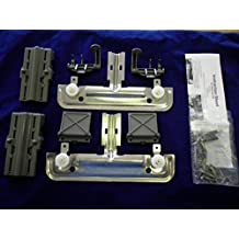 W10712395 RACK ADJUSTER KIT FOR KITCHENAID WHIRLPOOL AND JENN-AIR DISHWASHERS REPLACES PART NUMBER W10350375 COMPLETE KIT REPLACES BOTH SIDES Model: W10712395 by Home & Appliances