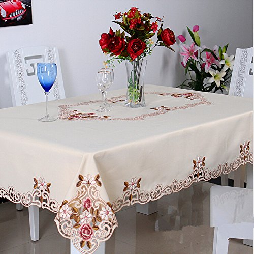 """Price comparison product image Luk Oil Fashion European Style Rectangle Tablecloth High Quality Polyester Embroidered Table Cloth 23""""x47"""""""