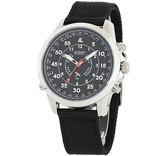 LAD WEATHER GPS Military Flight Mode 30 Time Zones Easy Setting Men's Watch - Flight Watch Master