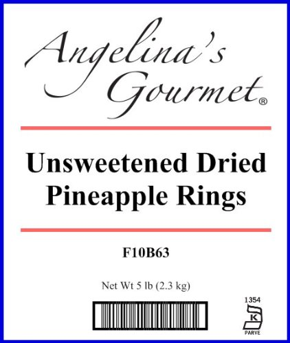 Unsweetened Pineapple Rings, 5 Lb Bag by Angelina's Gourmet (Image #1)