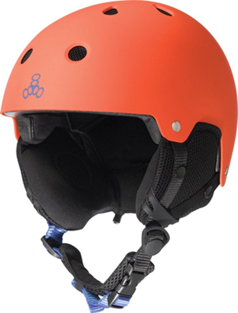 Die Sales Pull Partnerschaft Triple 8 Brainsaver Schnee Audio Helm (S M, Orange)