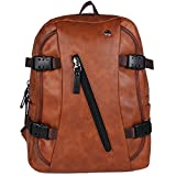 Fur Jaden Brown Backpack Bag for Men of Artificial Leather with Laptop Pocket