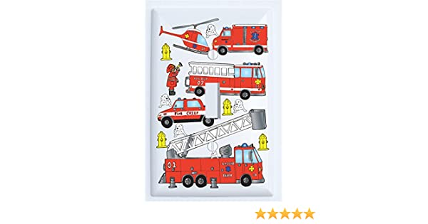 Fire Truck Engine Wallplate Decorative Light Switch Plate Cover