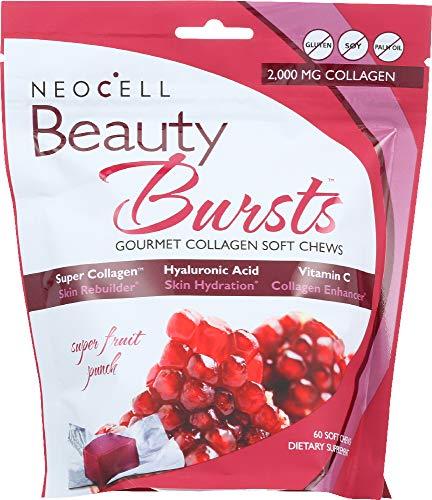 - Neocell (NOT A CASE) Beauty Bursts Gourmet Collagen Soft Chews Super Fruit Punch, 60 Soft Chews
