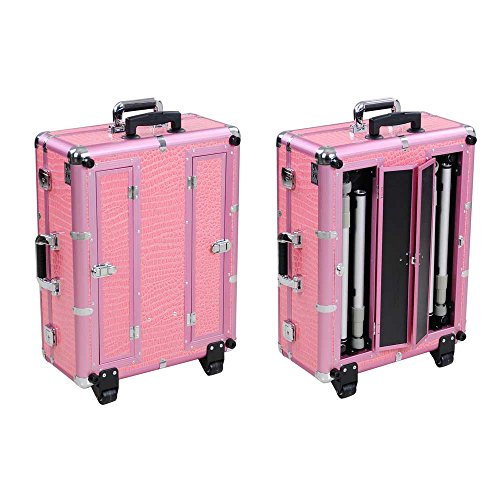 Reasejoy Pro Trolley Cosmetic Train Case With Light