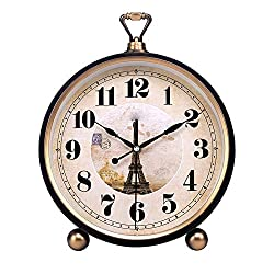 Mantle/Desk Clock Living Room Creative Desk Decoration Mute Clock Digital Clocks, Black, 33×22×5.5cm