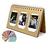 LoveS 60 Book Style Pockets Photo Album For Instax Mini 8 70 7s 25 50s 90 Film/ Pringo 231 Film/ Fujifilm Instax SP 1 Film/ Polaroid PIC-300P Film/ Polaroid Z2300 Film (TL-01,60 Photos), 20 Photo Frame Stickers As a Gift