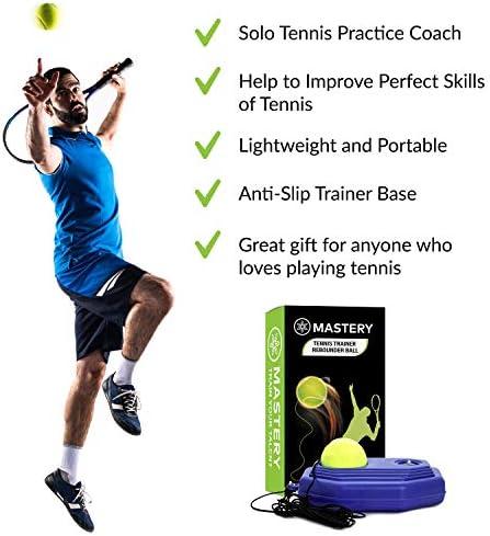 Tennis Training Tool Tennisball Selbststudium Rebound Trainer Tennis Ball T4H6