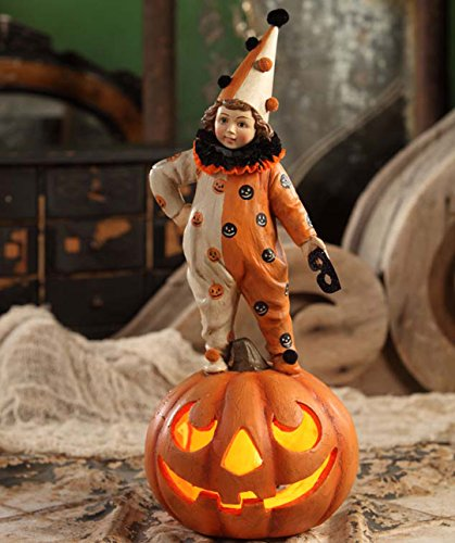 Bethany Lowe TD4029 Halloween Clown Girl on Pumpkin New 2015]()