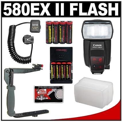 Canon 580EX II Speedlite Flash 8 Batteries Amp Charger Sto Fen Omni