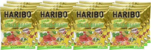 Haribo Gummi Candy, Goldbears Gummi Candy, Sour, 4.5 oz. Bag (Pack of 12) by Haribo (Image #2)