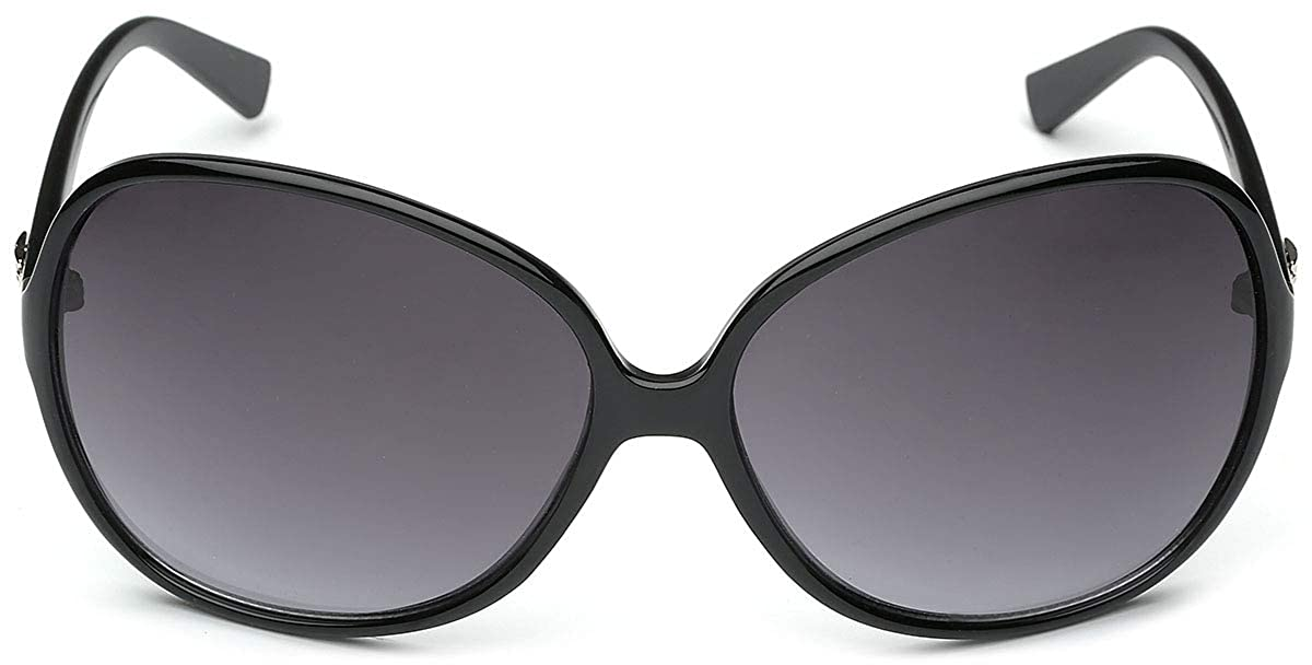3ceca82c9110 Amazon.com  Oversized Frame Women s Round Butterfly Shape Sunglasses   Clothing