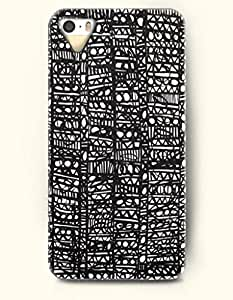 diy phone caseSevenArc Phone Skin Apple iPhone case for iPhone 5 5s ( 5C EXCLUDED ) -- Black and White Scattered Geometric Pattern...diy phone case