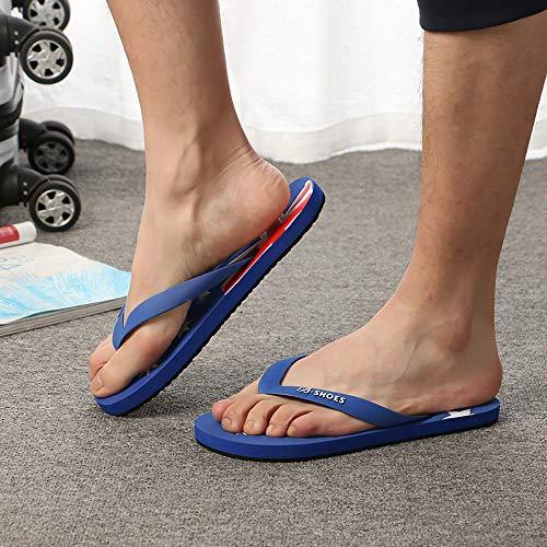 Deslizamiento Flops Playa Sandalias De Zapatos Bandera Zapatillas Americana ALIKEEY Azul Flip Hombres Anti 4pIaaw