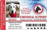 Emotional Service Dog Horizontal Badge ID