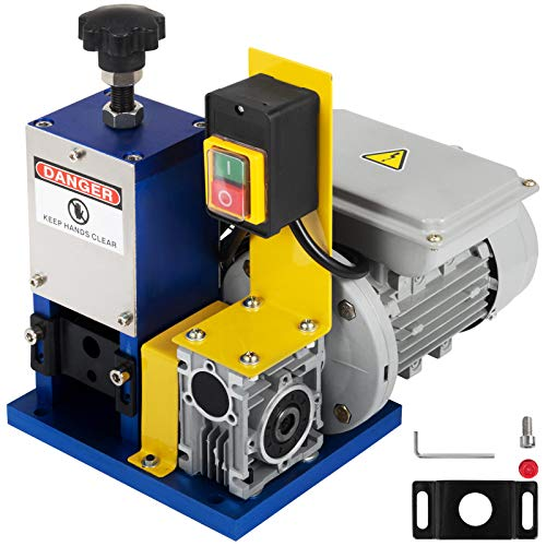 Happybuy Cable Wire Stripping Machine 1.5-25mm Automatic Electric Wire Stripping Machine 1 Channel Portable Wire Stripper Machine Tool for Scrap Copper Recycling (Dark Blue)