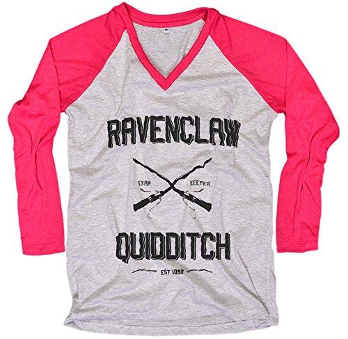 [Harry Potter Women T-Shirt Ravenclaw Quidditch shirt Everytees Long Sleeve Baseball Raglan Gift for Women] (Dobby Harry Potter Costumes)
